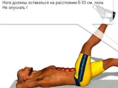 Занятия для похудения живота для мужчин
